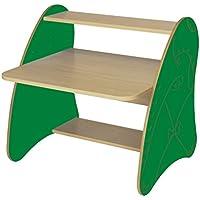 Mobeduc 600912hr21–PC-Tisch Kinder/Primär, Holz, Buche und Dunkelgrün, 80x 75x 80cm preisvergleich bei kinderzimmerdekopreise.eu