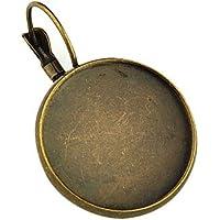 Componenti orecchino a cerchio in ottone lever back, piatta e