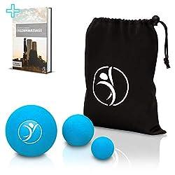 diRiva PREMIUM Massagebälle [3er Set] ● Massageball Set in verschiedenen Größen ● inkl. E-Book ● mit praktischer Tasche, großer und mittlerer Faszienball, kleiner Massageball