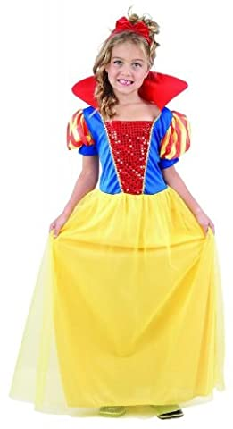 Costumes Pour Costume World Book Day - Pams Girls Snow White Princess Fancy Dress