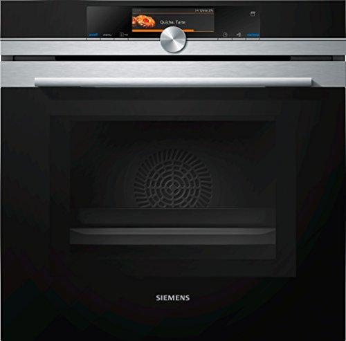 Siemens iQ700 Home Connect HN678G4S6 Mikrowellen-Backofen mit Dampfunterstützung / Edelstahl / activeClean / Home Connect / TFT-Touchdisplay Plus
