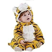 Mcdslrgo Cute Unisex del bebé invierno franela pijama traje traje de Cosplay Animal Romper Onesie pijamas de mujer ropa trajes