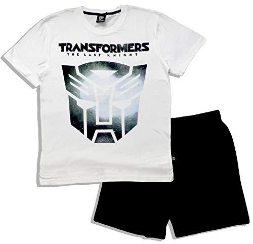 Transformers Herren Schlafanzug Gr. L, weiß