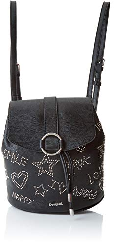 Desigual Bols_galaxy Mini Backpack - Borse a zainetto Donna, Nero (Negro), 10.6x24x22.3 cm (B x H T)
