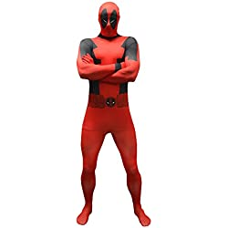 Marvel Comics Deadpool Basic Adult Cosplay Costume Morphsuit XL | Multi-Colour
