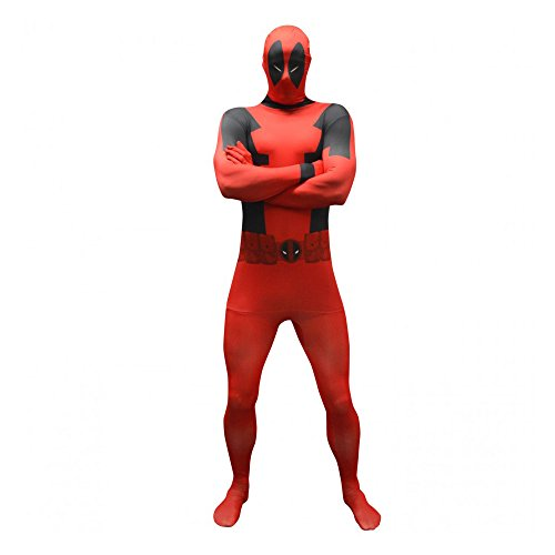 Kostüm Deadpool Marvel - Offizieller Deadpool Basic Morphsuit, Verkleidung, Kostüm - Medium - 5'-5'4 (150cm-162cm)