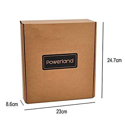 Powerland D018 Taladro con batería de ion de litio de, potente atornillador………