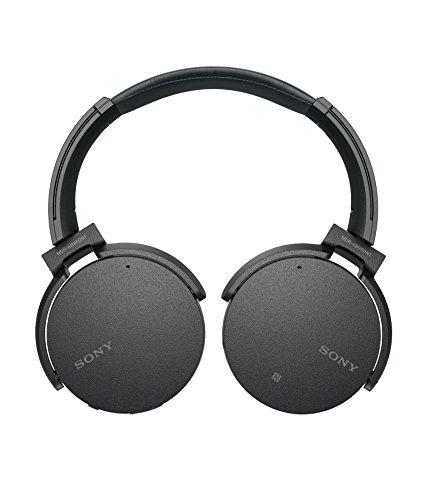 Sony MDR-XB950N1 kabelloser Kopfhörer mit Geräuschminimierung (Noise Cancelling, Extrabass, NFC, Bluetooth, faltbar) schwarz - 2
