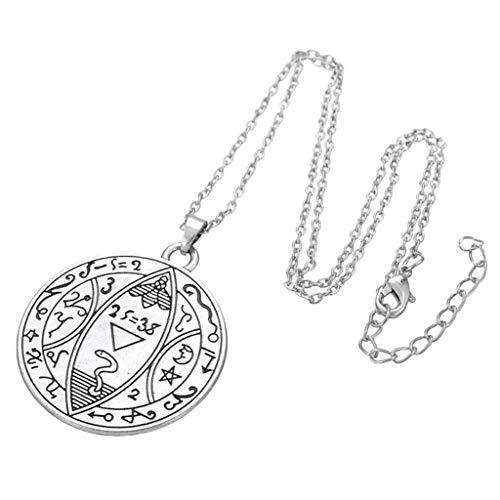 Baoblaze Nationale Halskette Verstellbare Kette Runde Tier Gravur Anhänger Schmuck - Snake Charm Zodiac Chinese