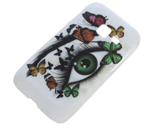 Handy Tasche Hard Case Cover für Samsung Galaxy Ace Duos GT-S6802 / Handytasche Schutzhülle Auge