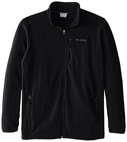 Columbia Men's Big & Tall Cascades Explorer Full Zip Midweight Fleece Jacket, Black, 2X/Tall (Mens Explorer Jacket)