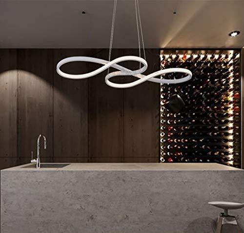 AILAIVM LED Pendelleuchte Esstisch Hängelampe Dimmbar Stufenlos mit Fernbedienung Höhenverstellbar Pendellampe Esszimmer Modern Hängeleuchte Kronleuchter Deckenleuchte Arbeitszimmer Wohnzimmer Küche