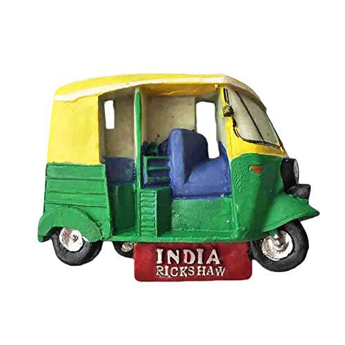 wedaredai Indien 3D TukTuk Kühlschrank Magnet Tourist Souvenir Reise Aufkleber, Indien Kühlschrank Magnet, Haus und Küche Dekoration Kollektion von China