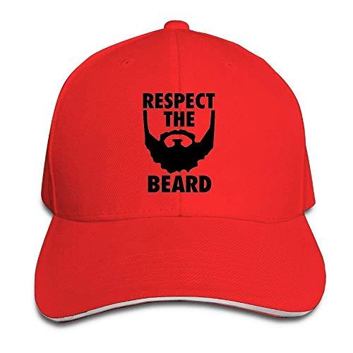 lijied Respect The Beard Adjustable Sandwich Baseball Cap for Men and Women