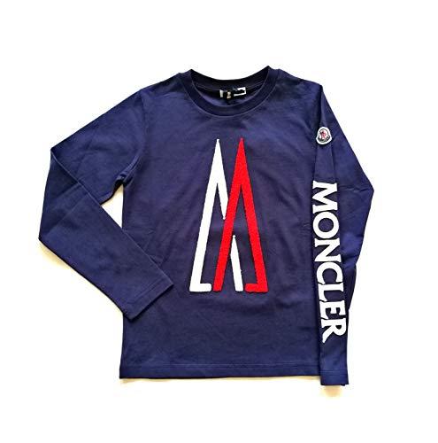 Moncler junior felpa maglia t-shirt bambino 8022550 blu (10 anni)