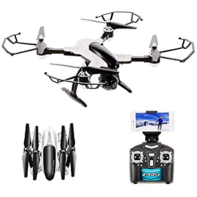 DAZHONG Foldable Drone with Camera Live Video 1080P HD FPV WiFi RC Quadcopter Drone for Adults Beginners with APP Control Headless Mode Altitude Hold and One Key Return X33C-1