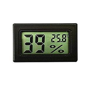 Eidyer LCD-Digital-Temperatur Feuchtigkeits Meter, Mini Digital Thermometer-Hygrometer und Feuchtigkeitsmesser-genaue Messwerte -(°C/°F)-Min/Max Aufzeichnungen für Gewächshaus, Autos, Haus, Büro