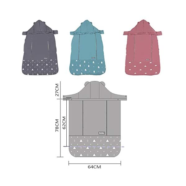 Baby Carrier Cover Windproof Winter Carrier Backpack Cloak Blanket with Warm Pocket, Blue Minizone Baby windproof carrier cover: made of high quality polyester. Reflective belt design, makes mommy and baby more safer at night. Baby Carrier Sling: Detachable hooded. Suitable for all kinds of baby sling, carrier, sleeping bag and hipseat. Cuddle pocket is perfect for keeping mom's hands warm. Adjust the length according to your baby's age. 3