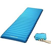 Trekology Inflatable Sleeping Pad, Camping Mats for Sleeping - w/Air Pump Dry Sack Bag - Compact Lightweight Camp Mat, Ultralight Comfortable Backpacking Mattress