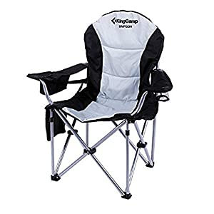 KingCamp Campingstuhl mit Verstellbarer Rückenlehne und Kühltasche