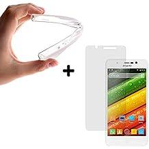 BeScreen - Funda Gel Flexible Zopo Color E ZP350 [ +1 Protector Cristal Vidrio Templado ] Carcasa Case Silicona TPU Suave