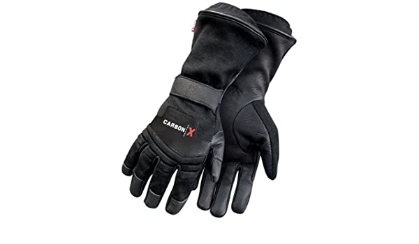 Black Small Bob Dale 96-1-9210-S CarbonX FR Performance Glove with Gauntlet Cuff