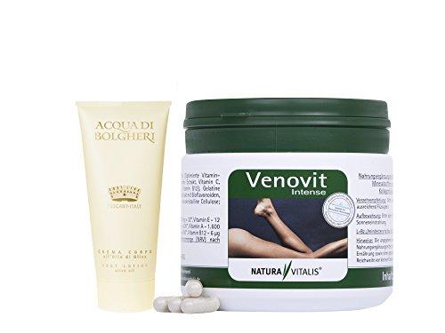 Natura Vitalis Venovit Intense - 360 Kapseln + Dr. Taffi Bodylotion Oro (50ml) (60 Mg 120 Kapseln)