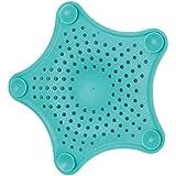 HENGSONG Küche Badezimmer Antiverstopfungs Mesh Schmutzfänger Haar Filter Silikon Abflusssieb Abfall (Blau)