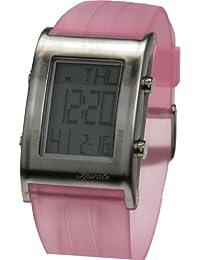 Spirale - 202302-1 - Montre Mixte - Quartz Digital - Cadran Gris - Bracelet Plastique Rose