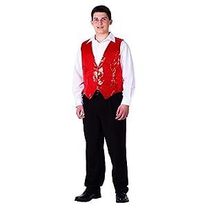Dress Up America Chaleco de Lentejuelas Rojo Completamente Forrado para Adultos