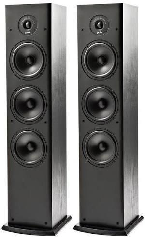 Polk Fusion Series T50 Floorstanding Towers(Black) - Set of 2