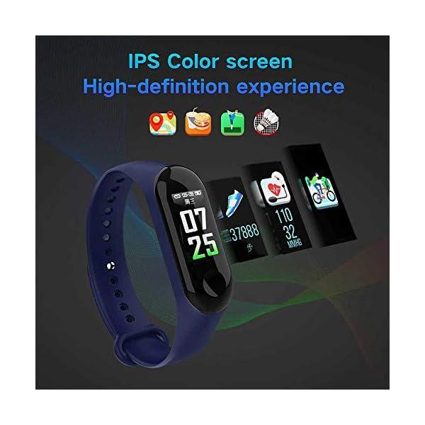 Pulsera inteligente/rastreador de fitness, pantalla de color HD IP68 impermeable M3 Plus pulsera de seguimiento de… 4