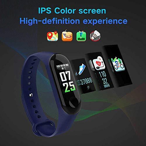 Imagen de pulsera inteligente/rastreador de fitness, pantalla de color hd ip68 impermeable m3 plus pulsera de seguimiento de actividad con monitor de presión arterial, podómetro deportivo para android/ios alternativa