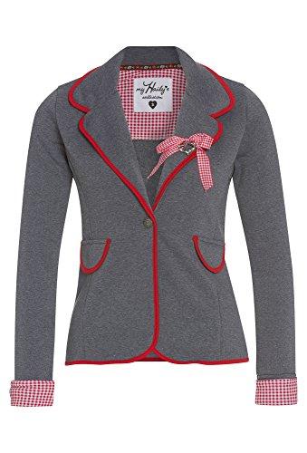 Hailys Damen Sweat Blazer Jersey Blazer Anzugjacke Oktoberfest (S, Red)