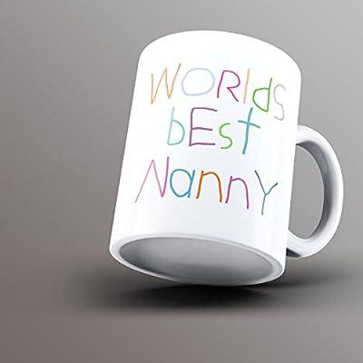 Mundos mejor niñera–impreso taza