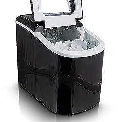 Eiswürfelmaschine Eiswürfelbereiter Eiswürfel Ice Maker EIS Maschine Icemaker (Schwarz)
