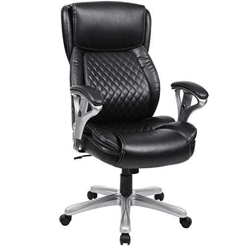 SONGMICS Chefsessel, 360° drehbarer Bürostuhl, ergonomischer Drehstuhl mit hoher Rückenlehne,...