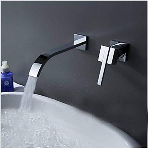 WSLWSJH Wasserhahn Waschbecken Wand Waschbecken Wasserhahn 2-Teiliges Set Spülung Wasserhahn Schrank Mischer Bad Heißes Und Kaltes Wasser Wasserhahn -