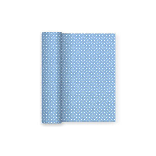 Mantel papel fiesta decorado Lunares Azul Baby - Ideal