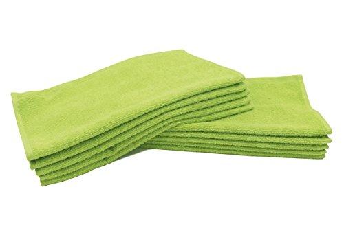 """Zollner® 10 lavette da bagno/asciugamani per il viso in spugna 30x30 cm verde mela, disponibili in tanti colori e misure diverse, direttamente dallo specialista in gastronomia, serie """"elba ii"""""""