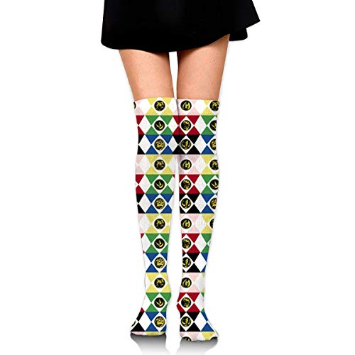 suzhouxiu Power Rangers Womens Knee High Socks Long Socks Sport Socks Thin for Running,Medical,Athletic,Travel
