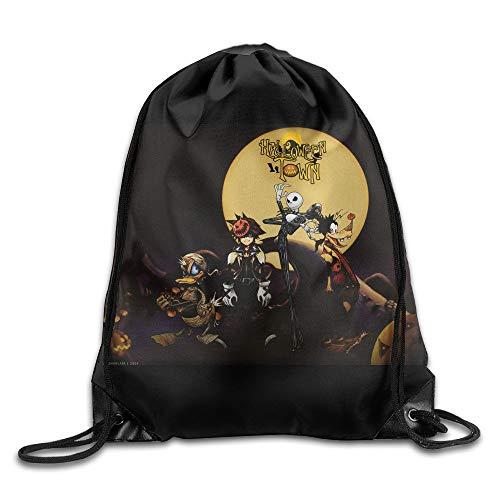 FTKLSS Lightweight Foldable Large Capacity Drawstring Backpack Jack Skellington Halloween (Es Ist Skellington Halloween Jack)