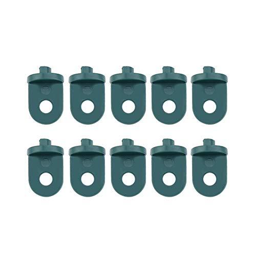 Asixx Gewächshausclips, 10 Stück Gewächshaushaken  aus Kunststoff zum Aufhängen von Kleinen Körben oder Blumentöpfen für Gewächshaus