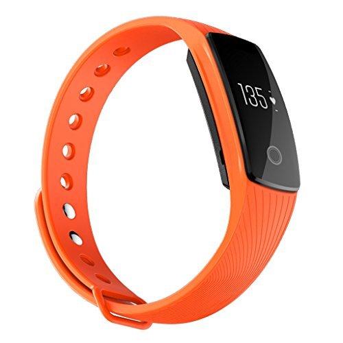 iMusi SmartWatch Fitness- und Aktivitätstracker Armband Pulsuhr- Orange