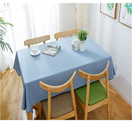 SONGHJ Baumwolle und Leinen Einfarbig wasserdichte Tischdecke Tischdecke Hochzeitsdekoration A 110x170cm