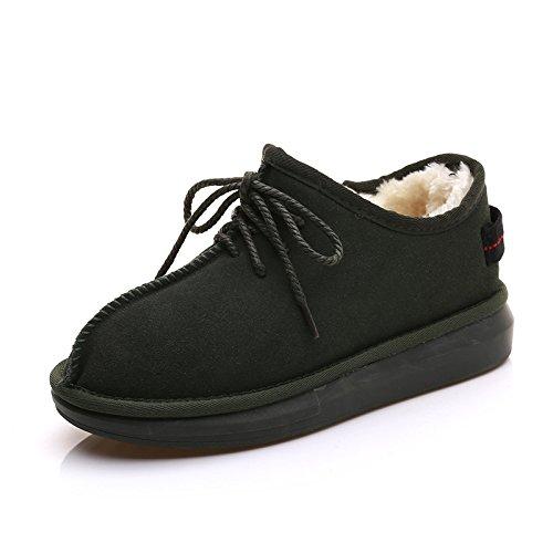 Bottes De Neige D'hiver Bottes De Neige Bottes De Neige Et Chaussures De Velours Chaudes Souvent Velours Armygreen Shoes