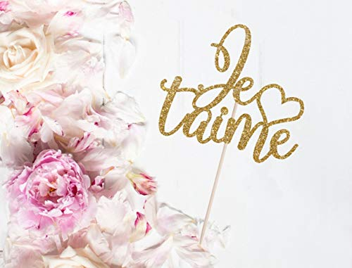 e Paris Theme Bouquet Topper Valentine'S Day Anniversary Engagement Party Party Supplies Cardstock Glitter Paper ()