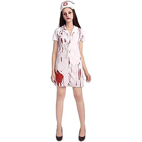 Ninimour Adulto Disfraz de Enfermera Halloween Cosplay Costume