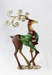 Rentier metall elch deko tier figur weihnachtsdeko hirsch reh skulptur tierfigur - Amazon weihnachtsdeko ...