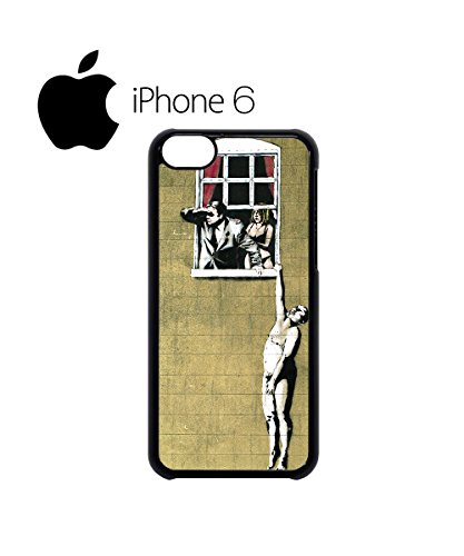 Banksy Naked Man Husband and Wife Swag Mobile Phone Case Back Cover Hülle Weiß Schwarz for iPhone 6 White Schwarz